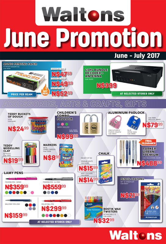 Waltons Newspaper June promotional 4-page Newspaper insert
